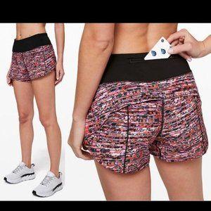 "NEW Lululemon Speed Up 2.5"" Running Shorts Print"